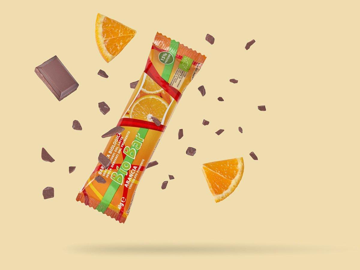 biobar barretta biologica vegetale cioccolato arancia
