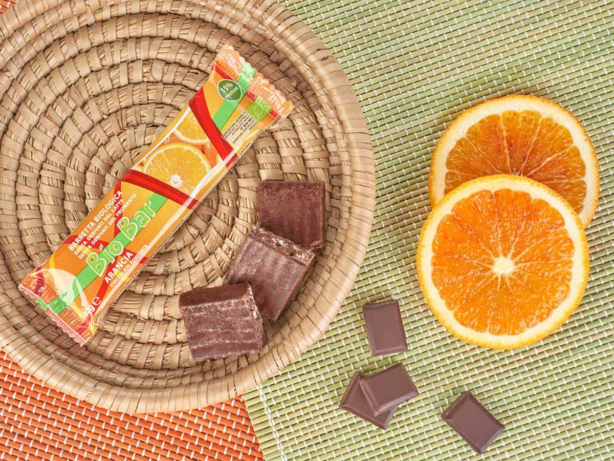 biobar barretta biologica cioccolato arancia