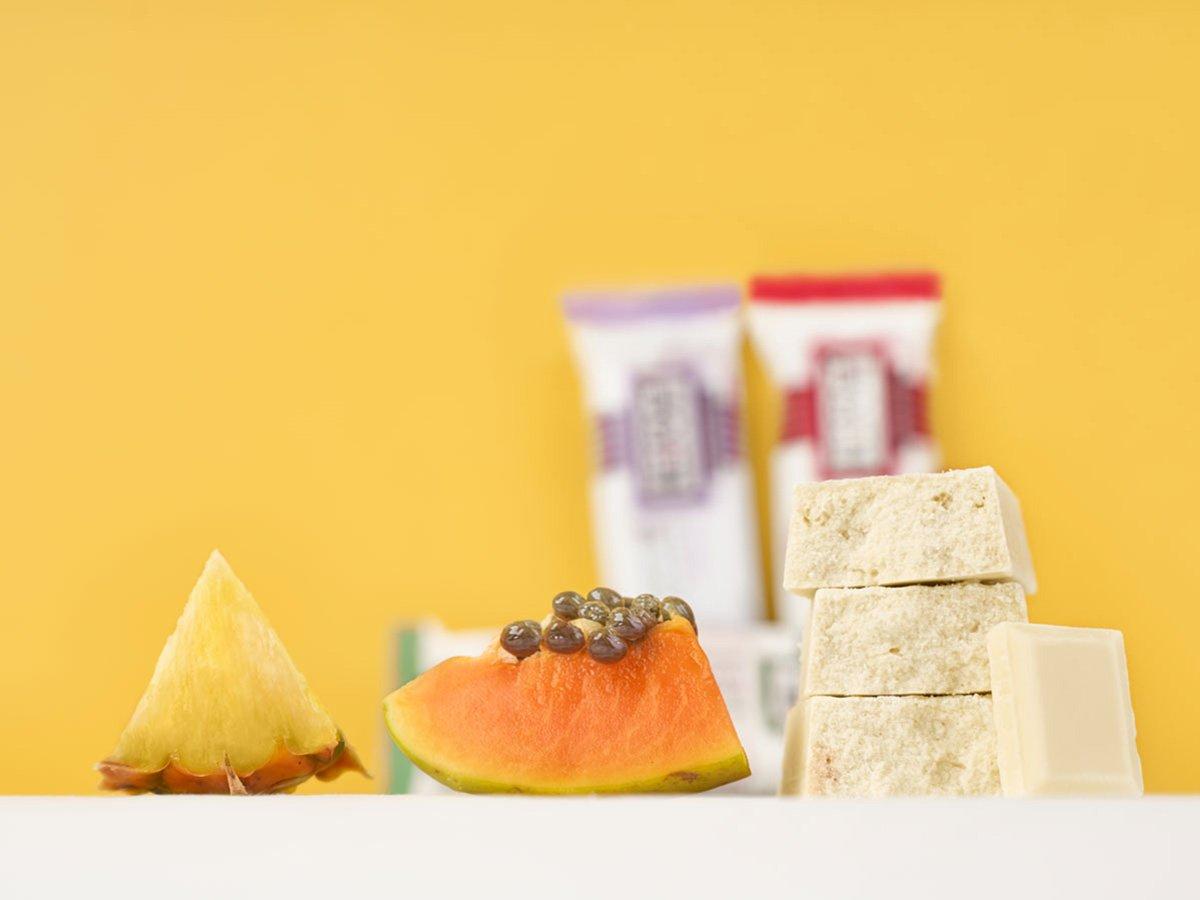 prolive barretta nutrizionale cioccolato bianco ananas papaya