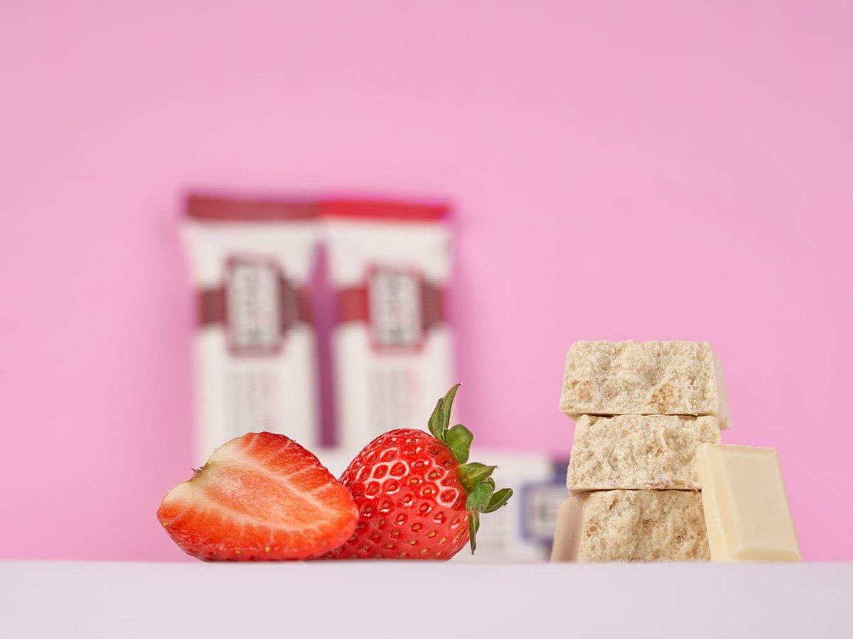 prolive barretta nutrizionale cioccolato bianco fragola