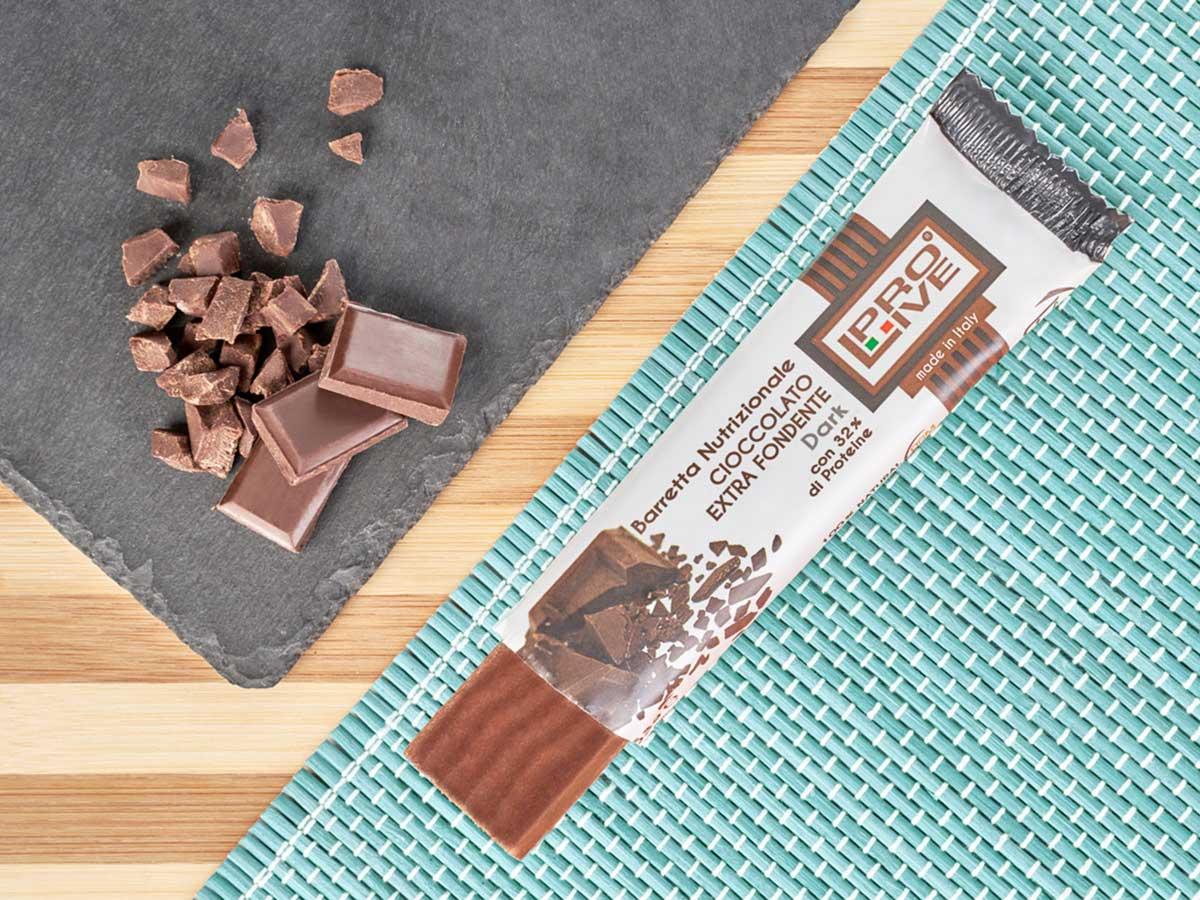 prolive barretta proteica cioccolato extra fondente