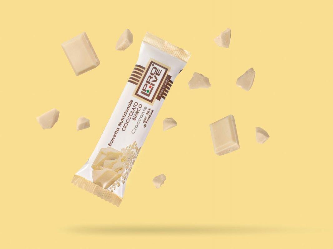 prolive barretta nutrizionale proteica cioccolato bianco croccante