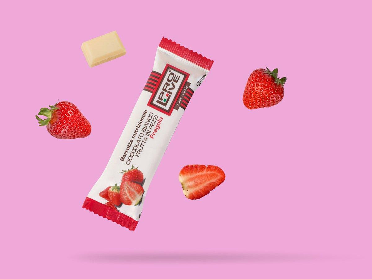 prolive barretta nutrizionale proteica cioccolato bianco fragola