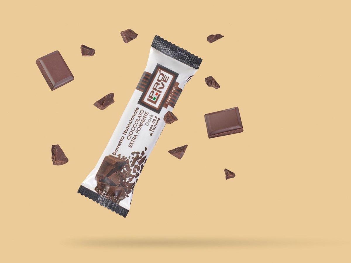 prolive barretta nutrizionale proteica cioccolato extra fondente
