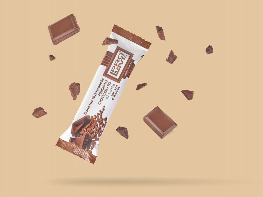 prolive barretta nutrizionale proteica cioccolato latte