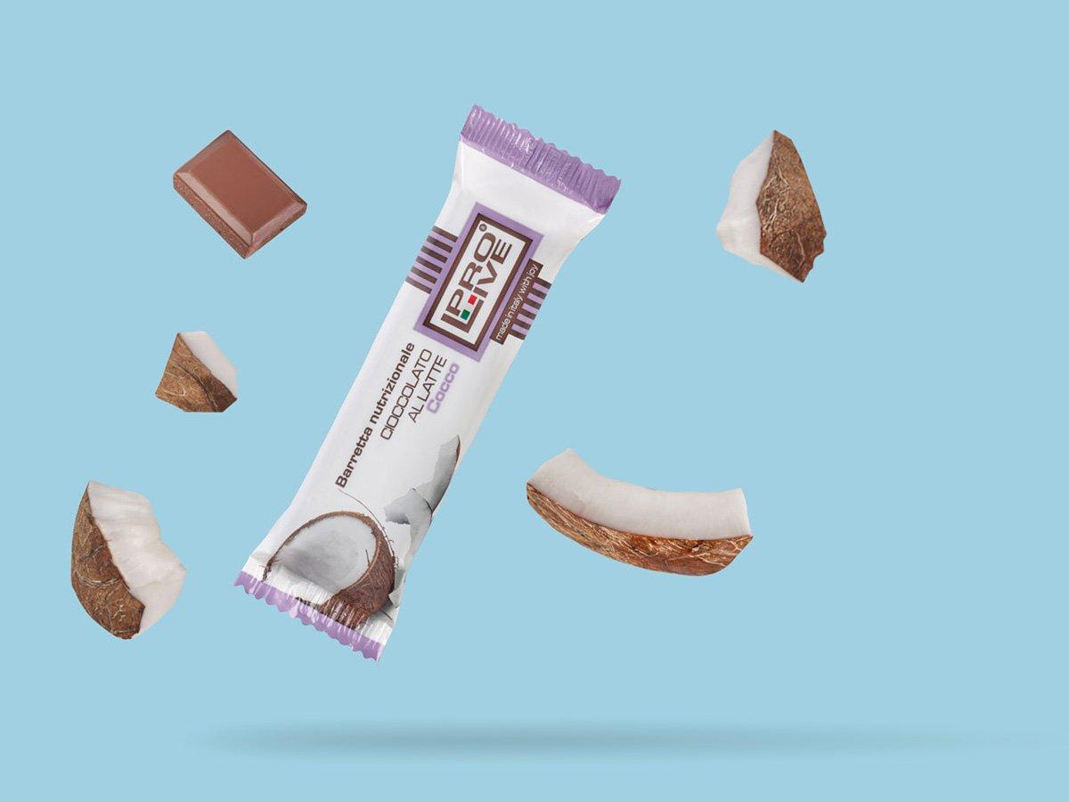 prolive barretta nutrizionale proteica cioccolato latte cocco