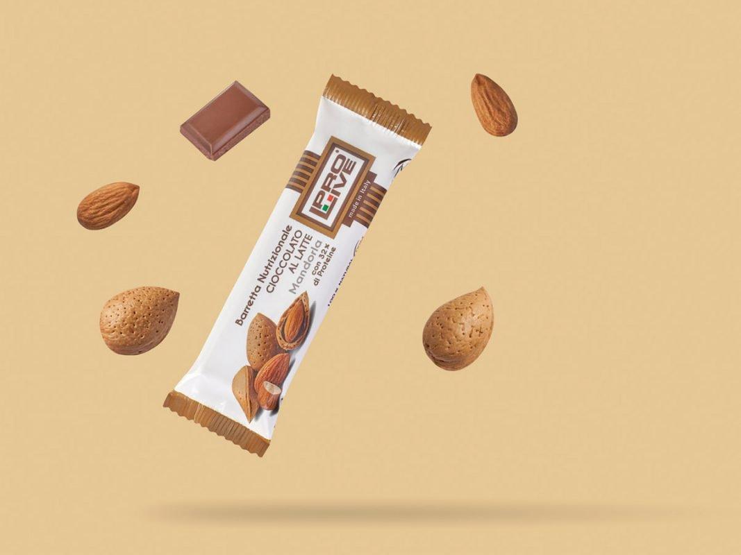 prolive barretta nutrizionale proteica cioccolato latte mandorla
