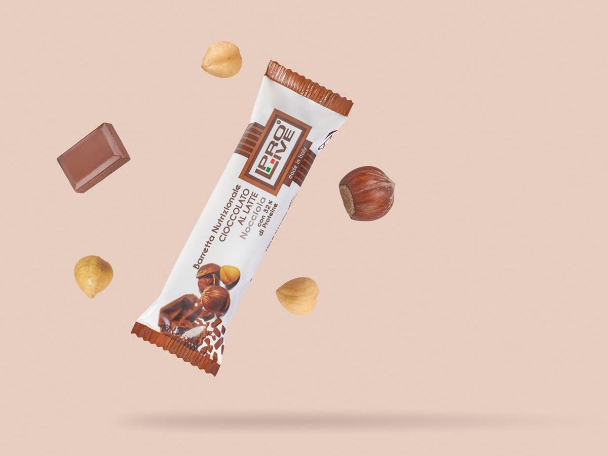 prolive barretta nutrizionale proteica cioccolato latte nocciola