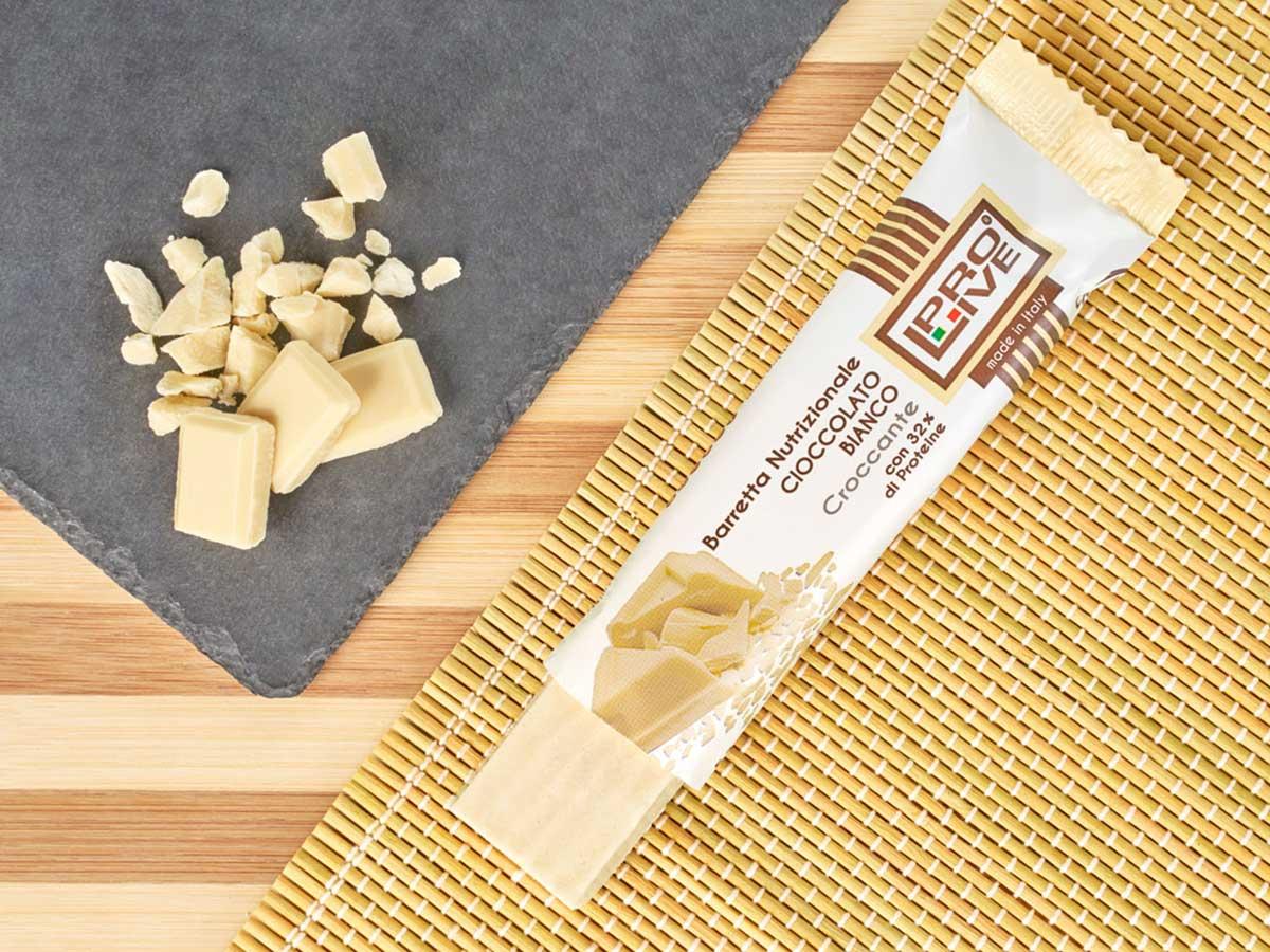 prolive barretta proteica cioccolato bianco croccante