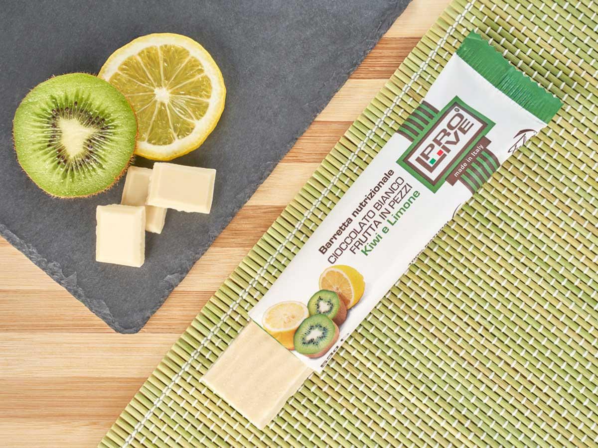 prolive barretta nutrizionale cioccolato bianco kiwi limone