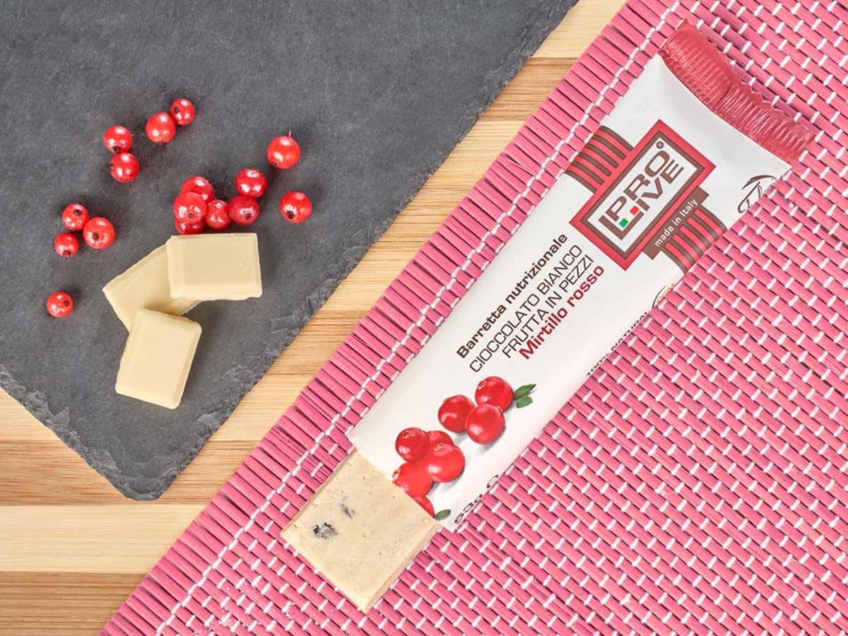 prolive barretta nutrizionale cioccolato bianco mirtillo