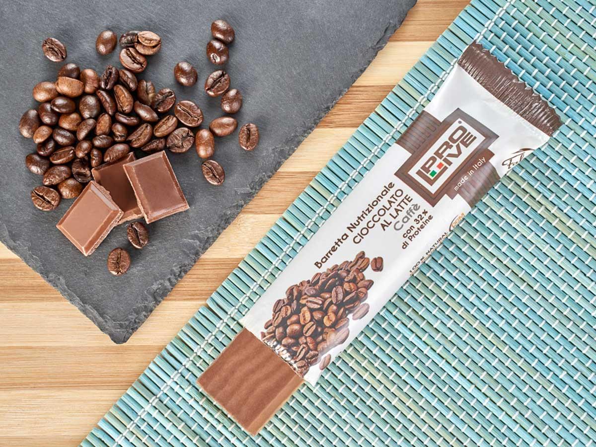 prolive barretta nutrizionale cioccolato latte caffe