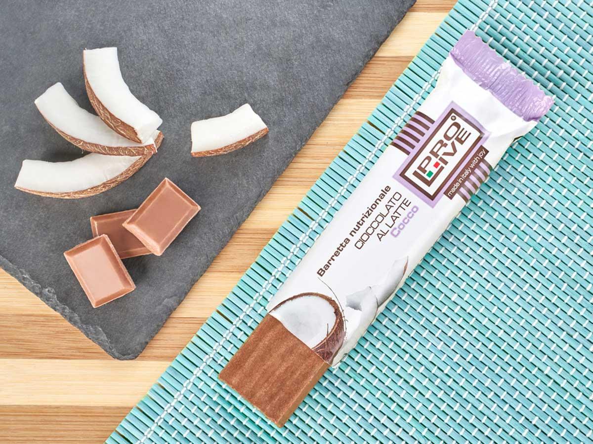 prolive barretta nutrizionale cioccolato latte cocco