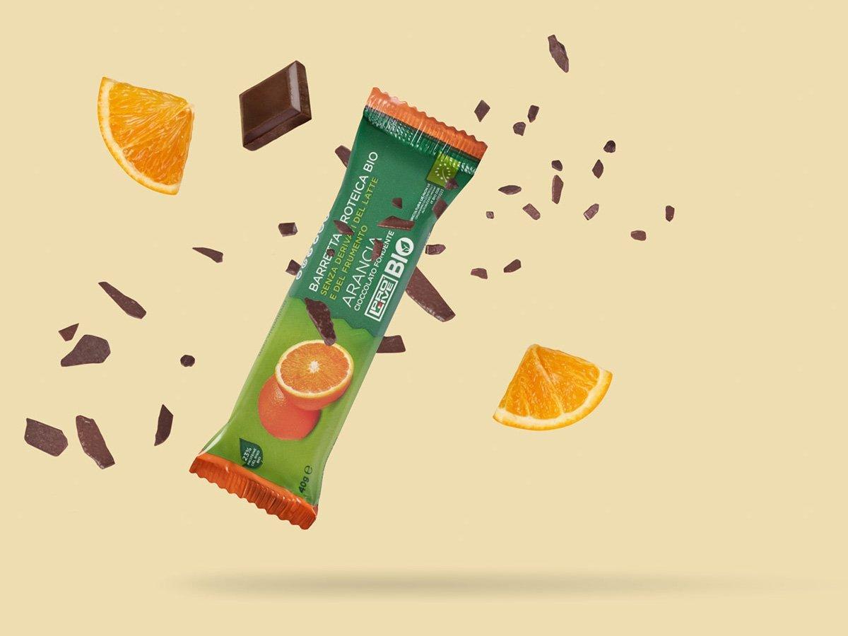 prolive bio barretta proteica biologica cioccolato fondente arancia