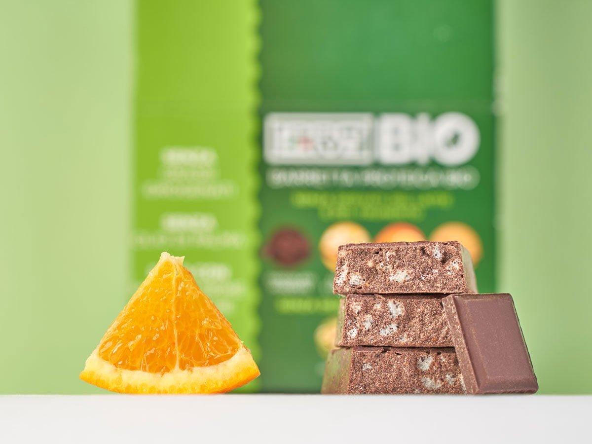 prolive bio barretta proteica cioccolato fondente arancia