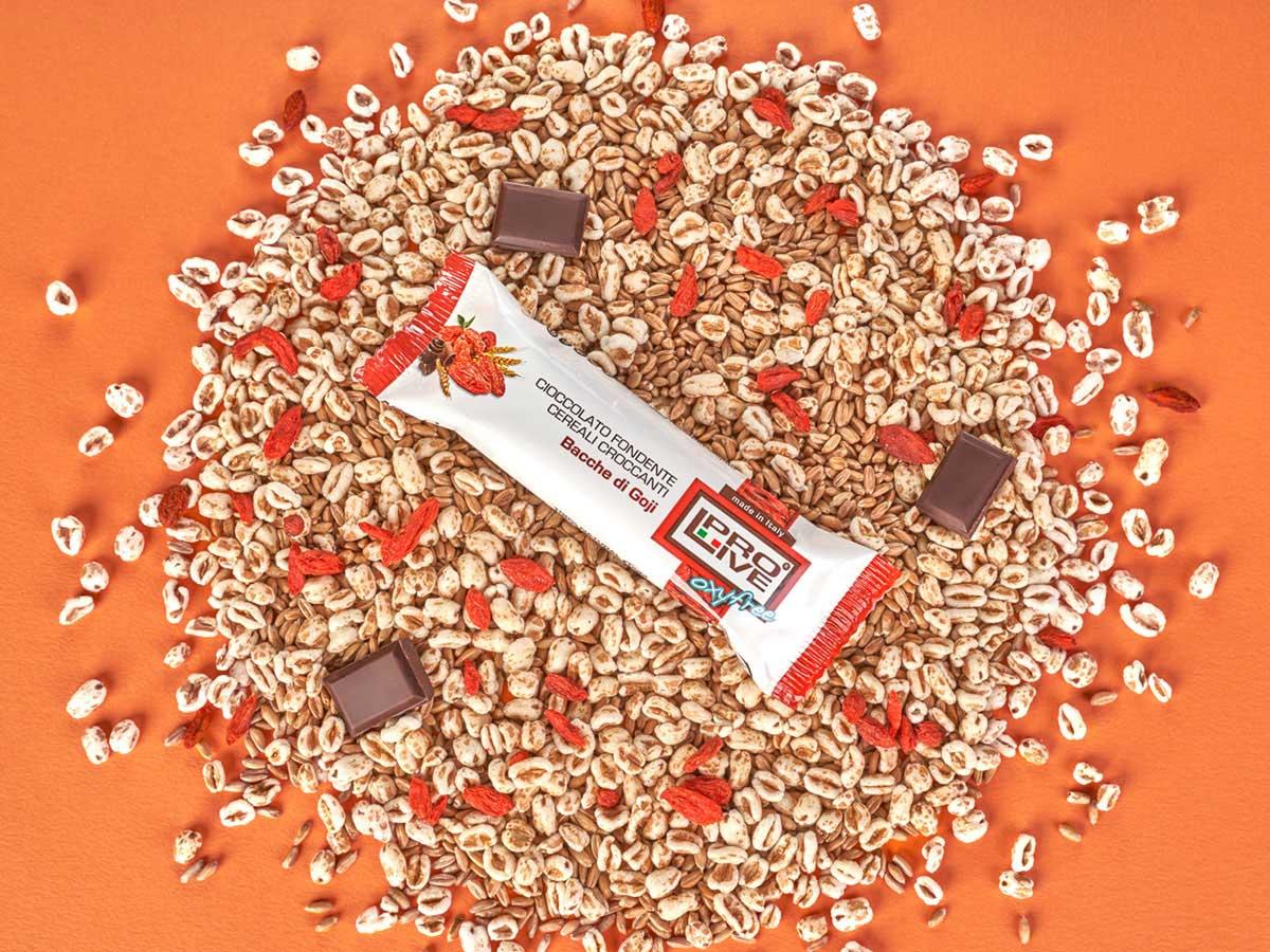 prolive oxyfree barretta energetica cioccolato bacche goji