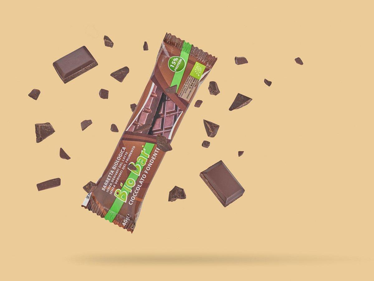 biobar barretta biologica vegetale cioccolato fondente