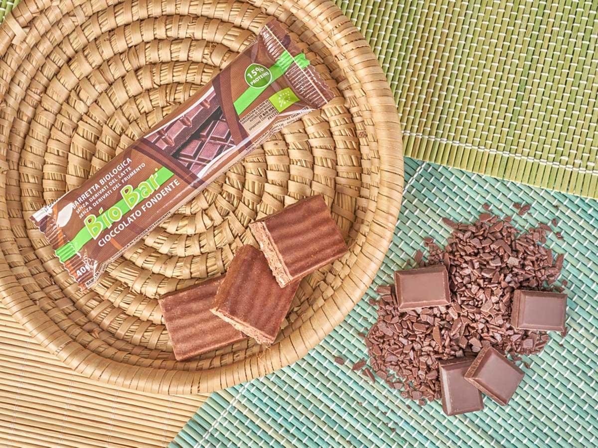 biobar barretta vegetale cioccolato fondente