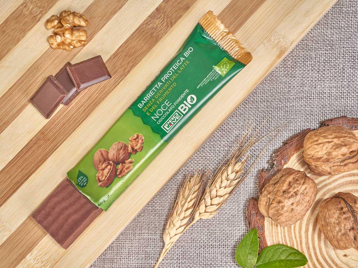 Prolive Bio barretta proteica cioccolato fondente noce