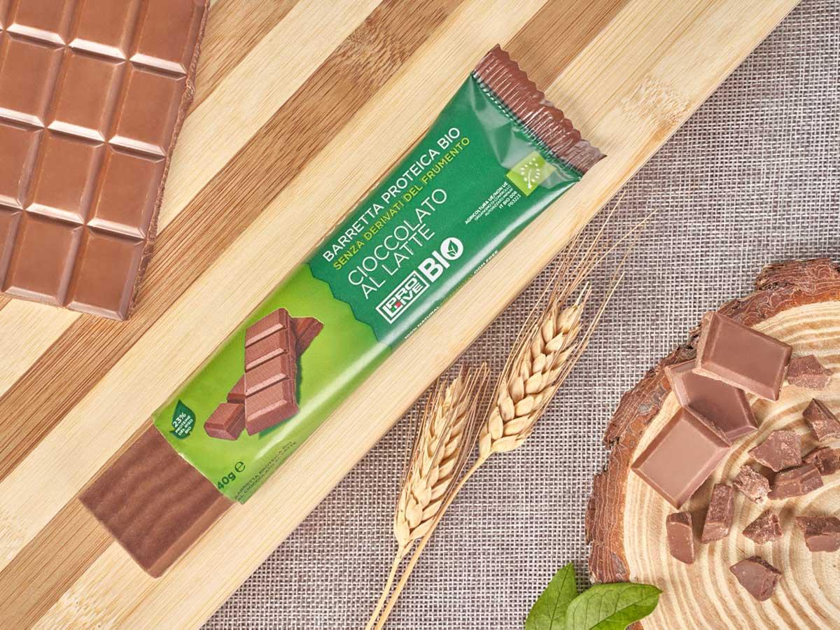 Prolive Bio barretta biologica cioccolato latte