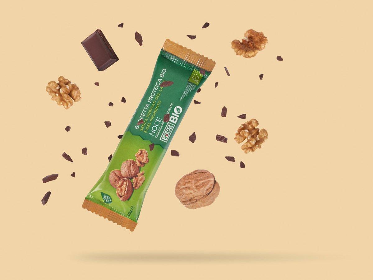Prolive Bio barretta proteica biologica cioccolato fondente noce
