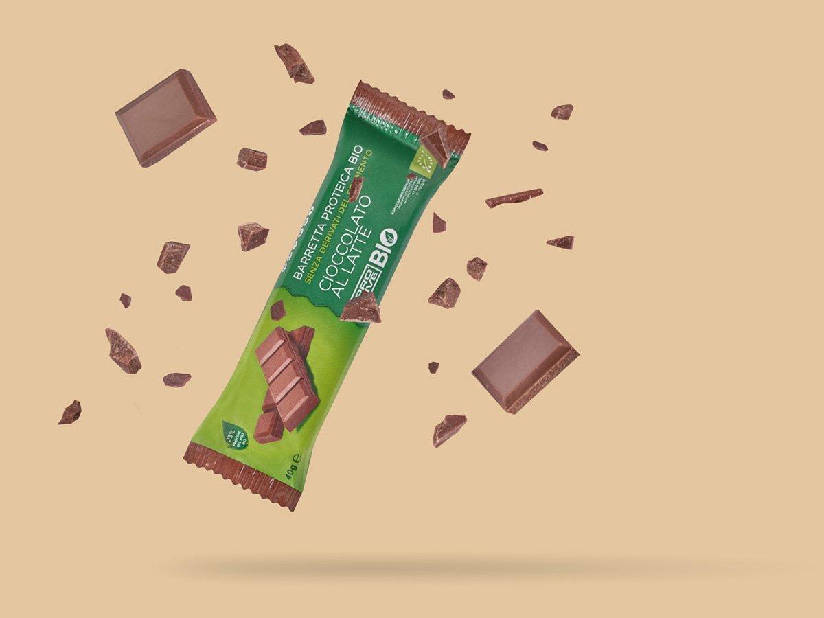 Prolive Bio barretta proteica biologica cioccolato latte