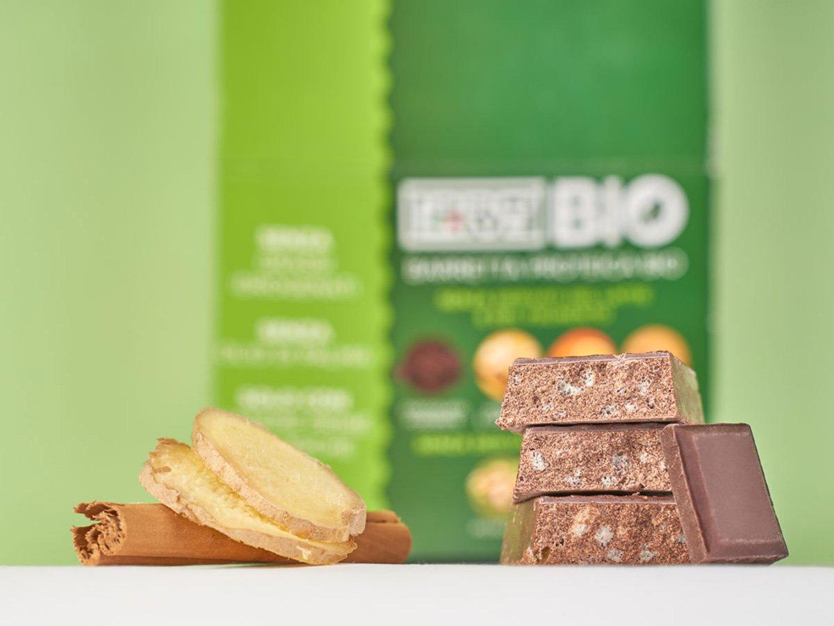 Prolive Bio barretta biologica cioccolato fondente zenzero cannella