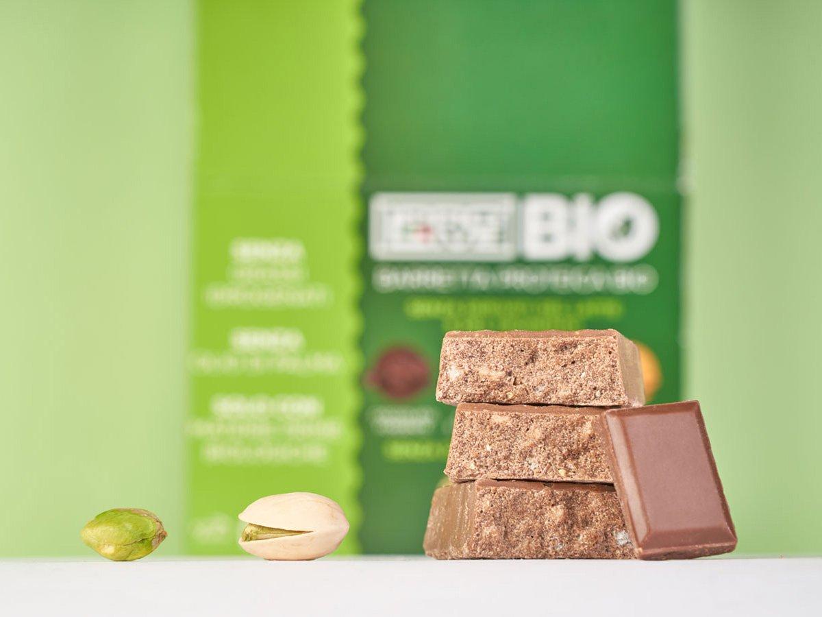Prolive Bio barretta biologica cioccolato latte pistacchio