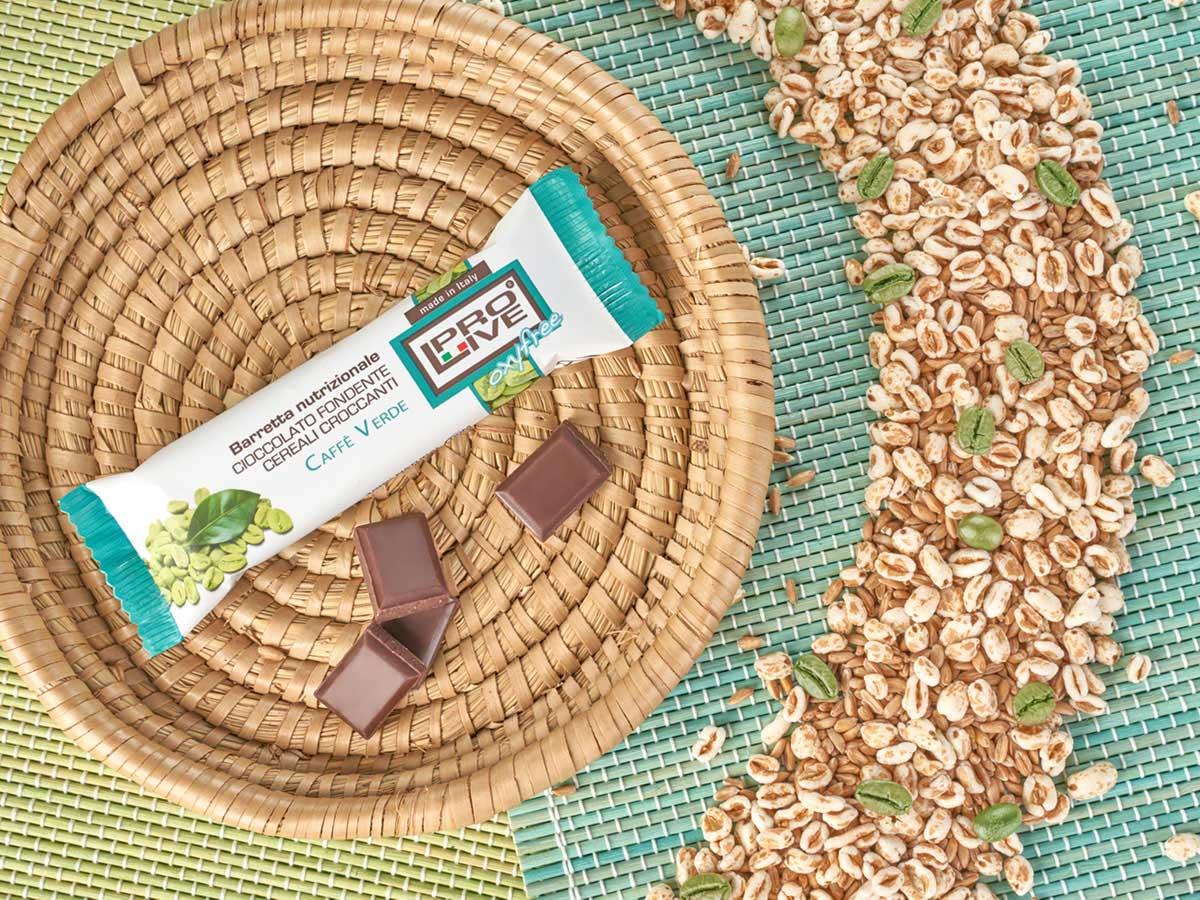 Prolive Oxyfree barretta energetica cioccolato fondente caffe verde