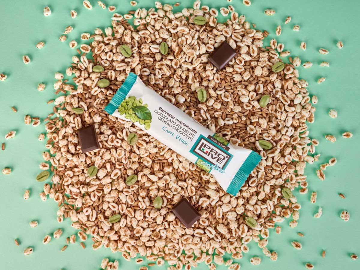 Prolive Oxyfree barretta snack cioccolato fondente caffe verde