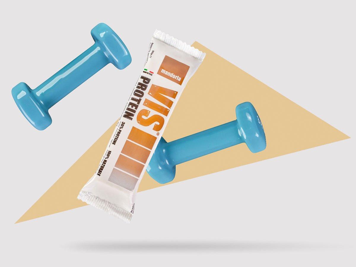 Vis Protein barretta proteica alle mandorle