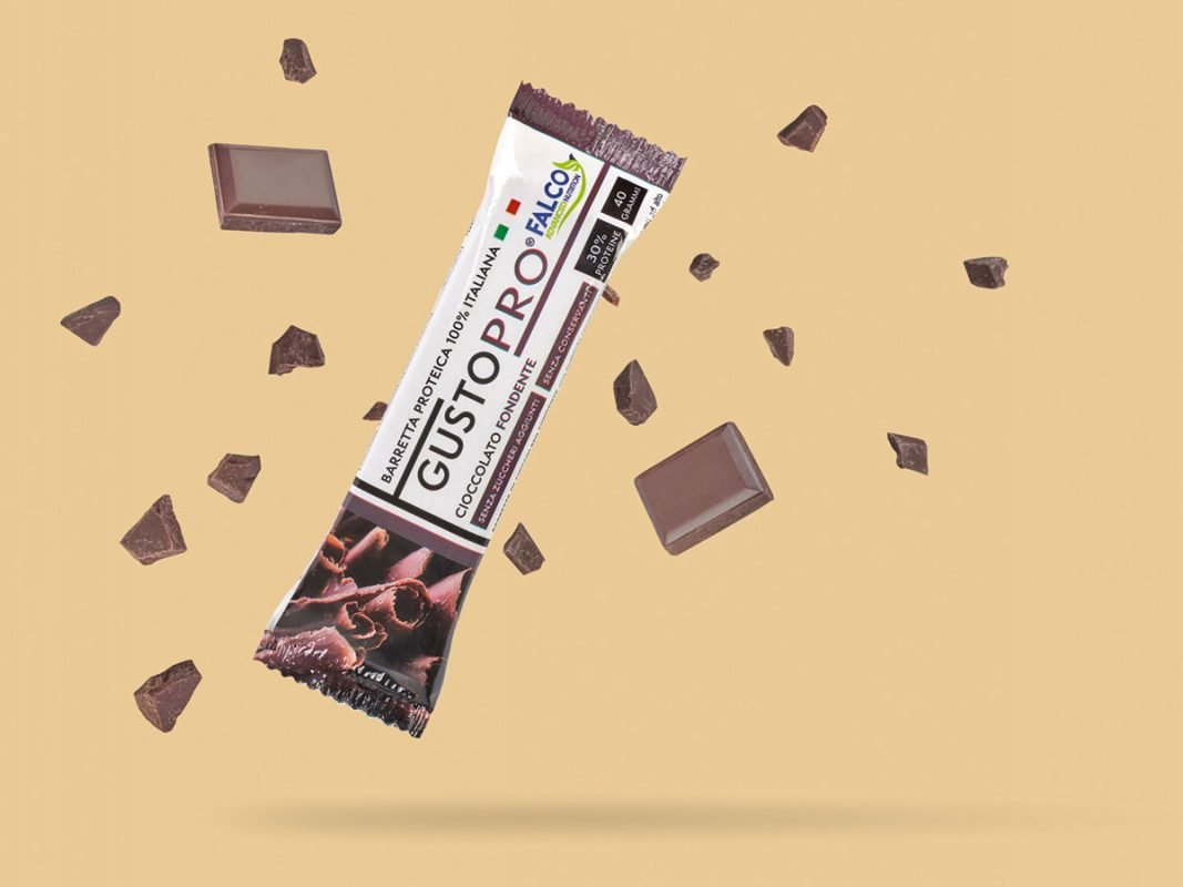 Gusto Pro Barretta Proteica cioccolato fondente