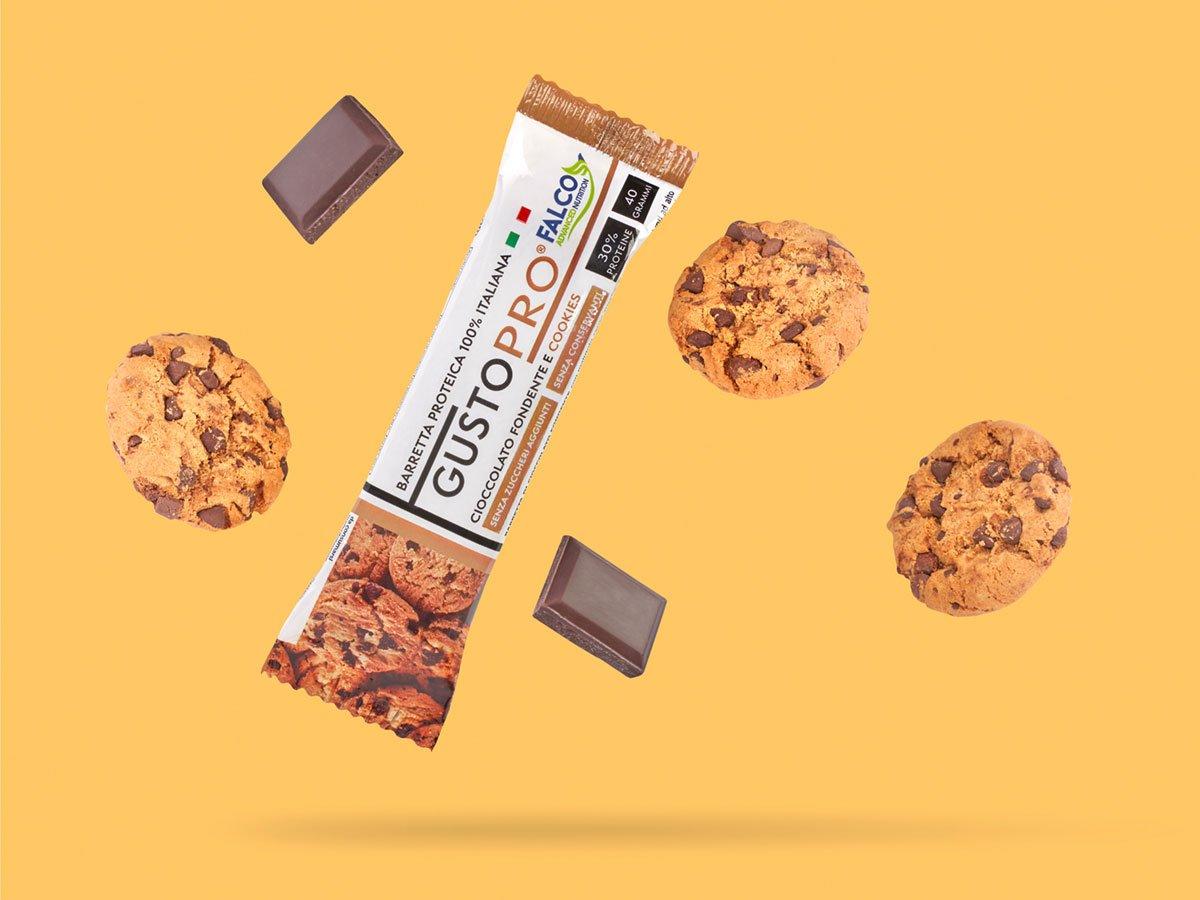 Gusto Pro Barretta Proteica cioccolato fondente e cookies