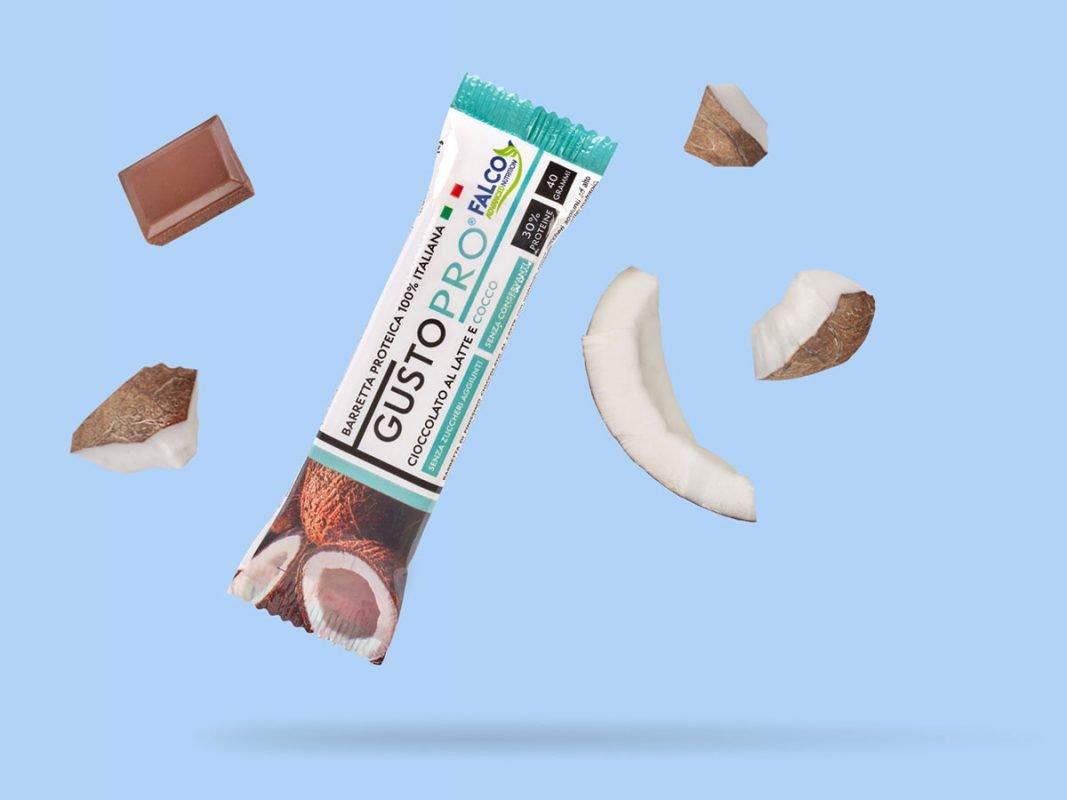 Gusto Pro Barretta Proteica cioccolato al latte e cocco