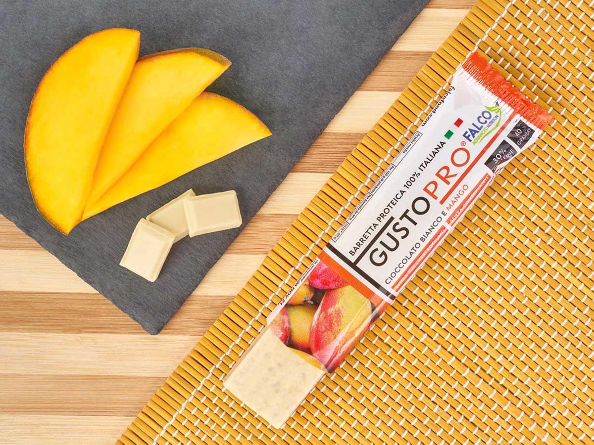 Gusto Pro Barretta Proteica cioccolato al maltitolo gusto Mango