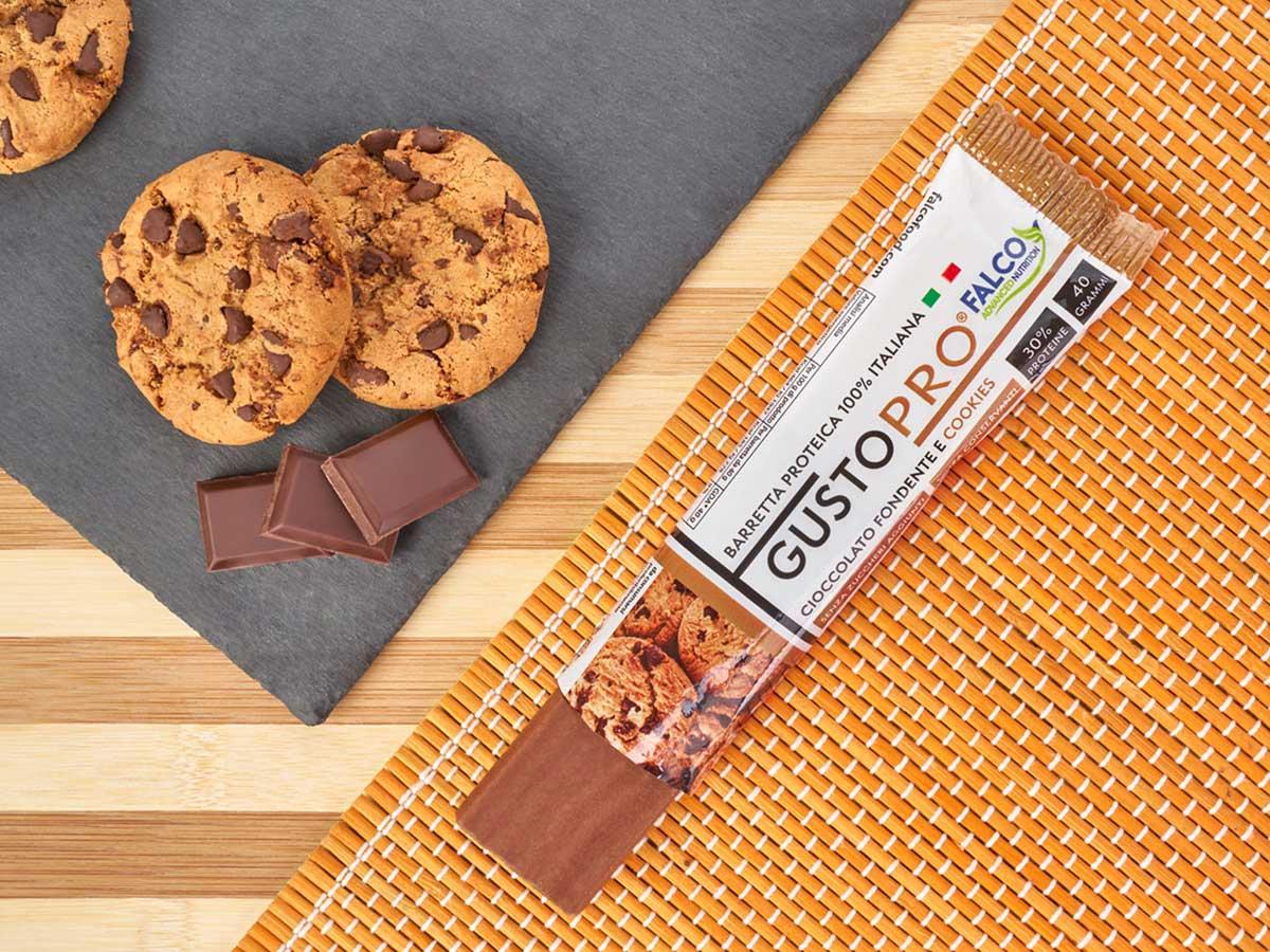 Gusto Pro Barretta Proteica cioccolato al maltitolo gusto cookie