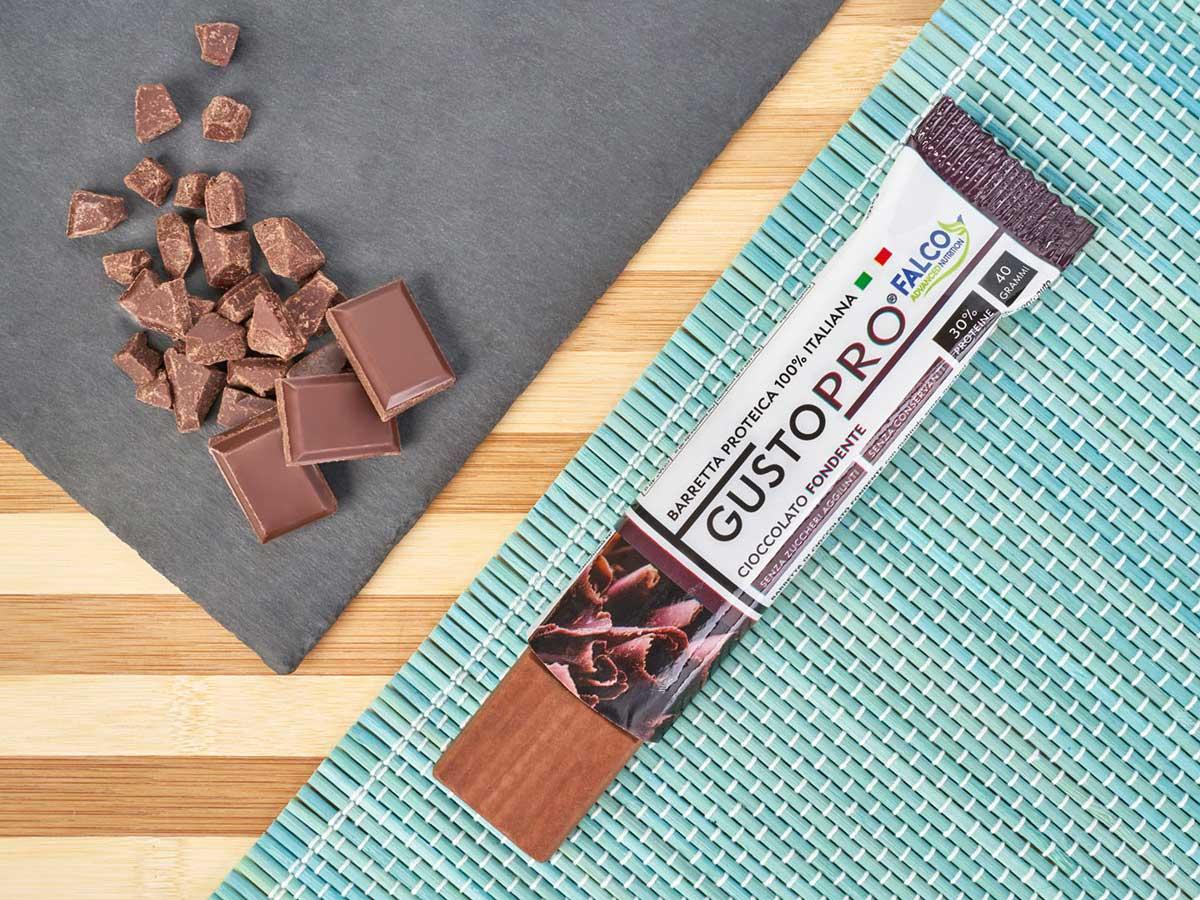 Gusto Pro Barretta Proteica cioccolato al maltitolo gusto fondente