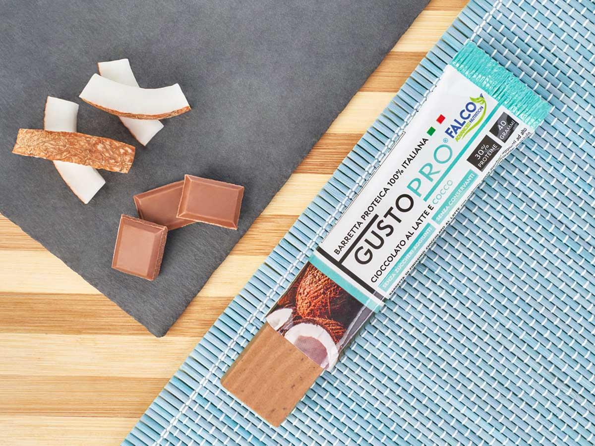 Gusto Pro Barretta Proteica cioccolato al maltitolo gusto cocco